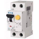 Автоматичен прекъсвач с вградена дефектнотокова защита   PFL4, 1+N, C, 10 A, 4,5 kA, 30 mA, AC