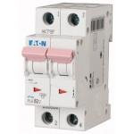 Миниатюрен автоматичен прекъсвач PL6, 2P, 6A, 6kA, C