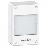 Табло за открит монтаж, Титаниево бяло/Сив металик, 1 x 18