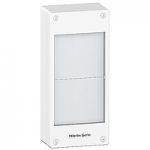 Табло за открит монтаж, Титаниево бяло/Сив металик, 2 x 13