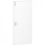 Непрозрачна врата за табла за вграден и открит монтаж, титаниево бяло 3 x 13
