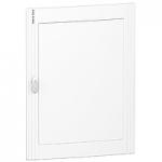 Непрозрачна врата за табла за вграден и открит монтаж, титаниево бяло 4 x 24
