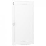 Непрозрачна врата за табла за вграден и открит монтаж, титаниево бяло 5 x 24