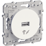 USB зарядно устройство, Бял