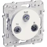 TV/SAT/R розетка, двойна, Бял