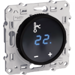 Термостат със сензорен екран 10 А, Черен