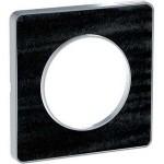 Единична рамка Odace Touch Aluminium, Черен дъб