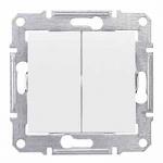 Сериен ключ 10 A – 250 V AC IP 44, Бял