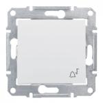Бутон, със символ звънец  IP44 10 A – 250 V AC, Бял