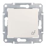 Бутон, със символ звънец  IP44 10 A – 250 V AC, Крема