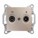 TV/R розетка, последна в серия, 1 dB, Титаний