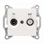 TV/SAT розетка, междинна в серия, 8 dB, Крема
