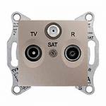 TV/R/SAT розетка, последна в серия, 1 dB, Титаний