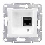 Информационна розетка 1 x RJ45, кат. 6, UTP, Бял