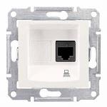 Информационна розетка 1 x RJ45, кат. 6, UTP, Крема