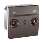 Розетка TV/FM за системи със серийно разпределение, последна в серия, двумодулна, Графит