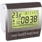 Програмируем седмичен термостат 8 А,активен/5 А индуктивен, двумодулен, Алуминий