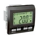 Устройство за управление на стайна температура KNX, двумодулно, Графит