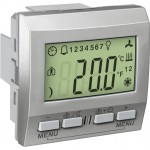 Устройство за управление на стайна температура KNX, двумодулно, Алуминий