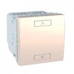 Комбиниран механизъм за управление на щори Unica Wireless, с неутрала, 2 модула, Слонова кост
