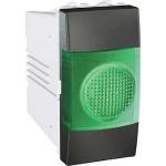 Индикатор за сигнализация (Зелен), едномодулен, Графит