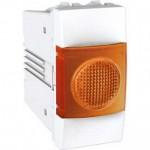 Индикатор за сигнализация (Оранжев), едномодулен, Бял