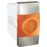 Индикатор за сигнализация (Оранжев), едномодулен, Алуминий