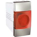 Индикатор за сигнализация (Червен), едномодулен, Алуминий