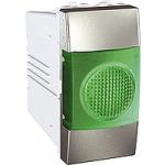 Индикатор за сигнализация (Зелен), едномодулен, Алуминий