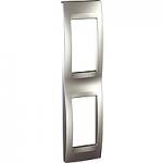 Монтажна рамка за тънък панел Unica Top 1+1 модула, Алуминий