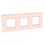 Тройна рамка Unica Quadro Перла, Сьомга