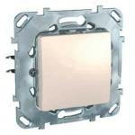 Механизъм бутон, с монтажна рамка Zamak, 10 А, 250 V, Слонова кост