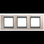 Тройна рамка Unica Top, Оникс/Графит