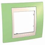 Единична рамка Unica Plus, Ябълково зелен/Слонова кост