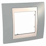 Единична рамка Unica Plus, Светло сив/Слонова кост