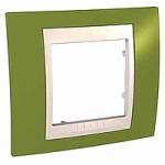 Единична рамка Unica Plus, Ярко зелен/Слонова кост