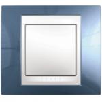 Единична рамка Unica Plus, Ледено син/Бял
