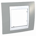 Единична рамка Unica Plus, Светло сив/Бял