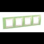 Четворна рамка Unica Plus, Ябълково зелен/Слонова кост