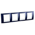 Четворна рамка Unica Plus, Индиго/Бял