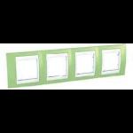 Четворна рамка Unica Plus, Ябълково зелен/Бял