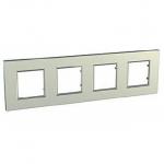 Четворна рамка Unica Quadro Металик, Сребро
