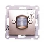 Детектор на движение10 A - 230 V AC с времезакъснение и регулиране според нивото на околната осветеност, Титаний