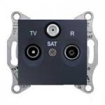 TV/R/SAT розетка, последна в серия, 1 dB, Графит