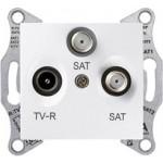 TV/SAT/SAT розетка, последна в серия, 1 dB, Бял