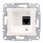 Информационна розетка 1 x RJ45, кат. 5e, UTP, Крема