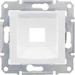 Капак за розетка RJ45, без конектор RDM, кат. 5E/ 6, UTP, Бял