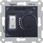 Стаен термостат 10 A - 230 V AC, Графит