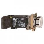 Пусков светещ бутон (1 N/O + 1 N/C) с нажежена жичка, без маркировка, бял