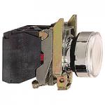 Пусков светещ бутон (1 N/O + 1 N/C) без включена крушка, без маркировка, бял